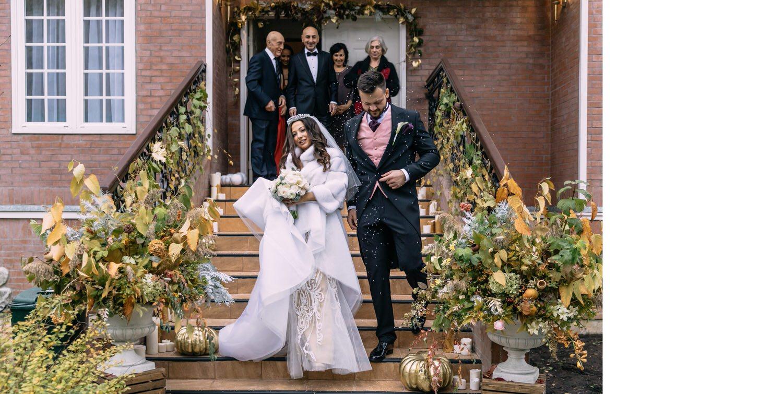 Свадьба в холодную погоду, шубка невесты
