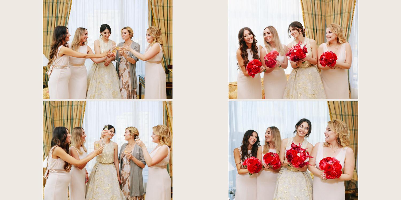 Свадебная церемония на крыше отеля Ритц-Карлтон Ritz Carlton Москва