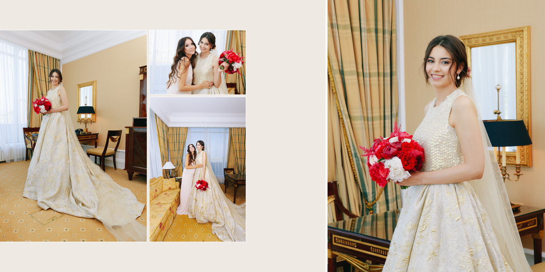 Сборы невесты в номере отеля Ритц-Карлтон Ritz Carlton Москва