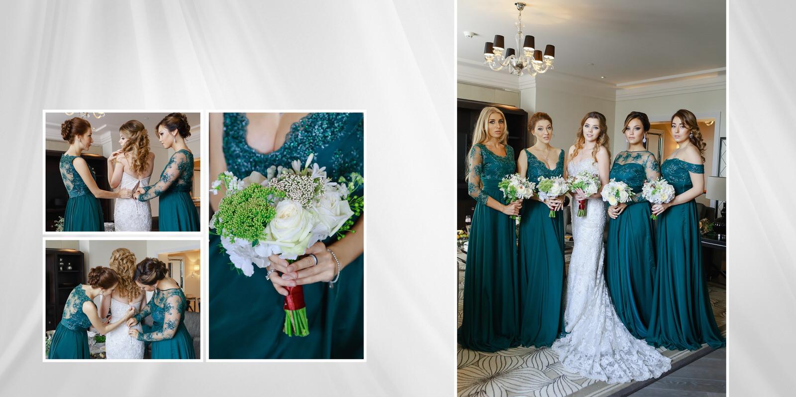 подружки невесты в изумрудном Four Seasons